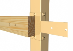 держатель для деревянных лаг