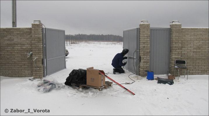 Смета установка ворот автоматических