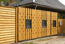 Забор из деревянного штакетника в г. Малоярославец