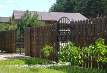 Деревянный забор из штакетника Покров