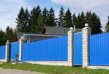 Забор из фигурного профнастила Истра