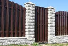 Забор из блоков Престиж в Озерах