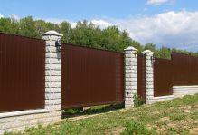 Забор из декоративных блоков Велегож Парк