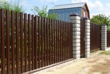 Забор из блоков Престиж в Чехове