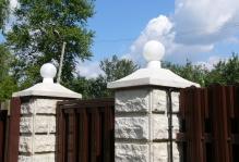 Забор из блоков Престиж в Ступино