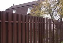 Забор из евроштакетника Юникс Наро-Фоминск