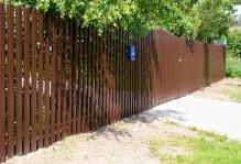 Забор из евроштакетника в Коломне