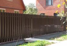 Забор из евроштакетника Нова КП Птичное
