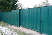 Забор и откатные ворота Фрязево