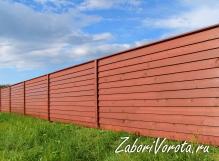 Забор из деревянного штакетника Елочка