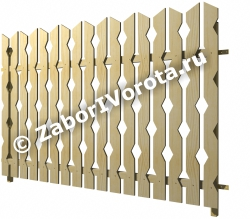 Забор из декоративной доски