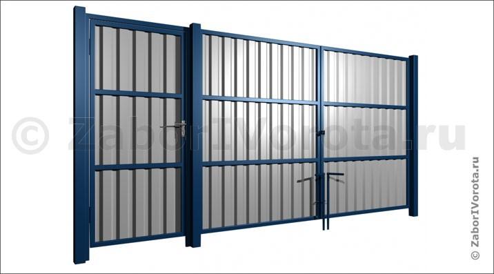Купить ворота с калиткой из профнастила екатеринбург автоматические ворота 7 раз мигает