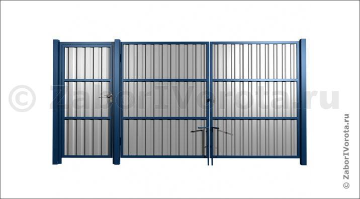 ворота из профнастила .