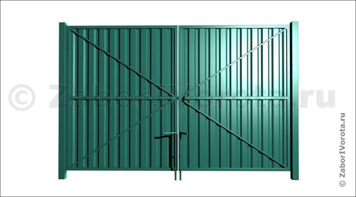 Ворота из профнастила VP-4