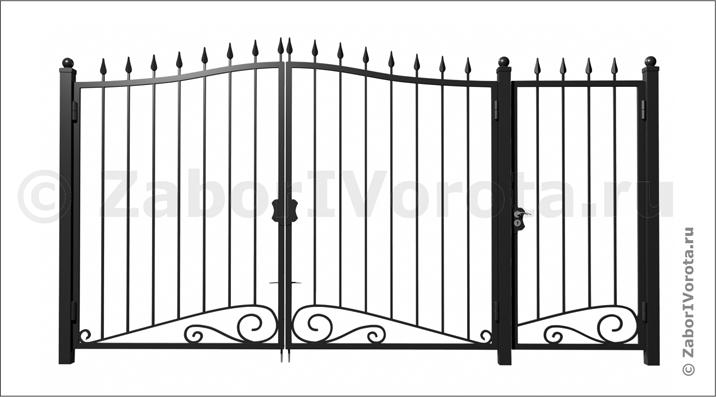 Сварные ворота с калиткой цена купить в туле ворота