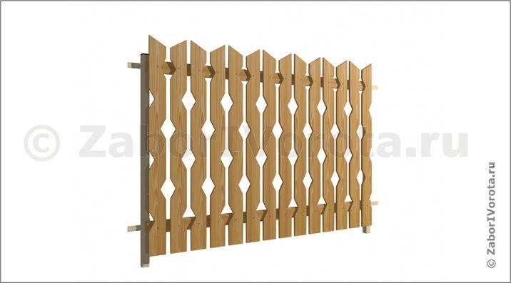 Деревянные заборы заборы декор из